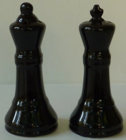 King & Queen - salt & pepper set - black