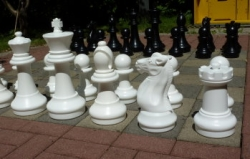 garden chess pieces midi