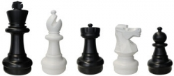 garden chess pieces